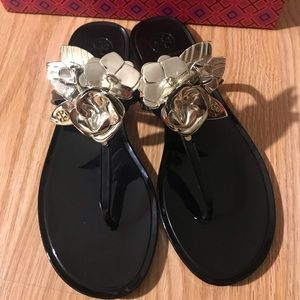 💯 Tory Burch Blossom Jelly Thong Sandals
